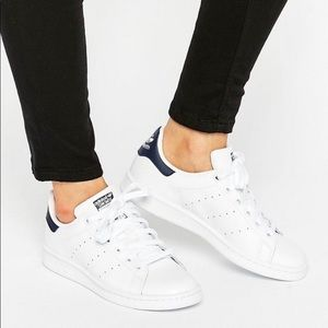 NWT STAN SMITH NAVY WHT MENS ADIDAS SIZE 7